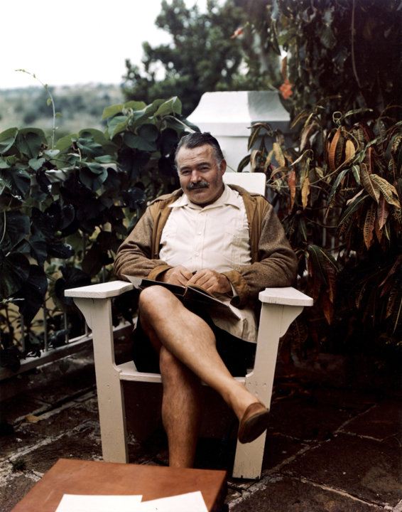 Ernest Hemingway at his home in Cuba