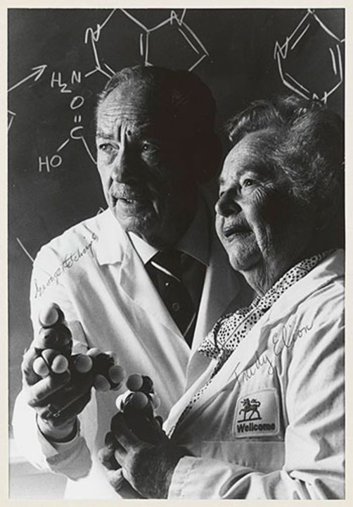 George Hitchings and Gertrude Elion, 1988. Source: Wellcome Images, Wellcome Library, London. CC BY 4.0 via Wikimedia Commons