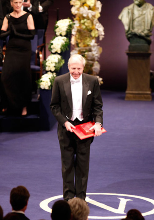 Jules A. Hoffmann after receiving his Nobel Prize at the Stockholm Concert Hall