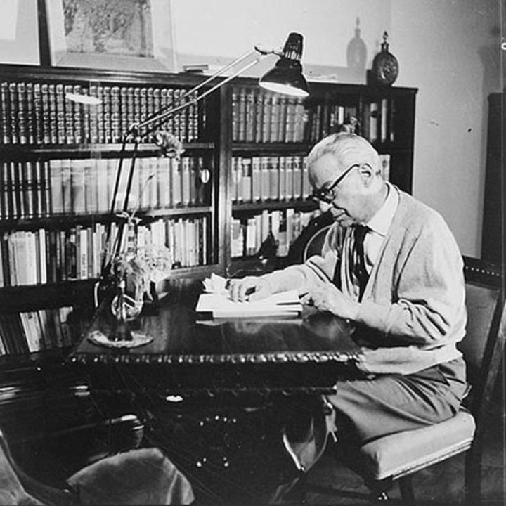 Ivo Andric in his home. Photo: Stevan Kragujević
