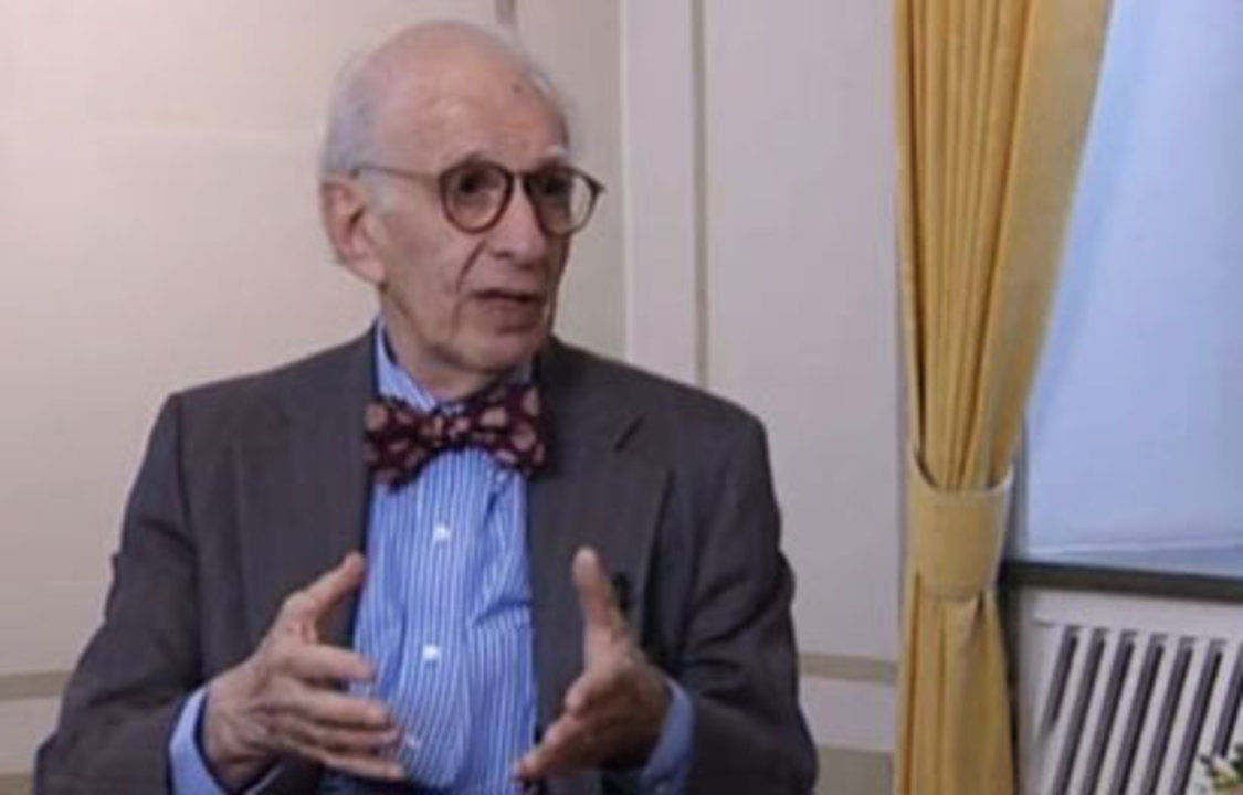 Eric R. Kandel during his interview with Nobelprize.org