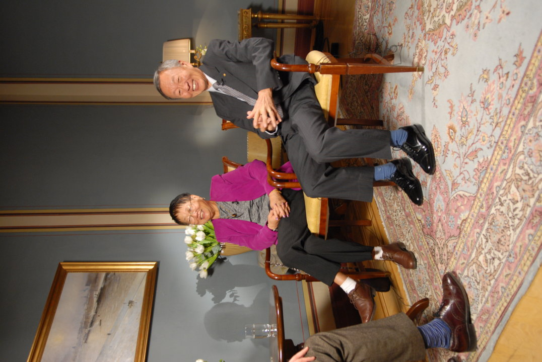 harles K. Kao during the interview with Nobelprize.org