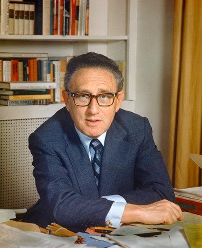 Henry Kissinger in his office.