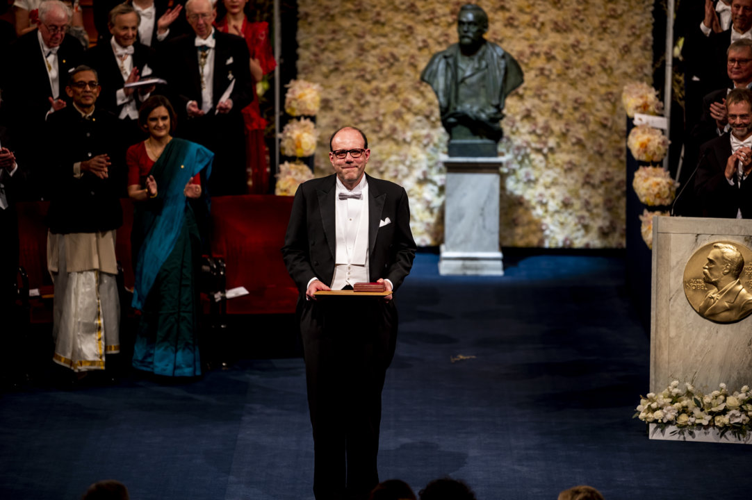Michael Kremer after receiving his Prize