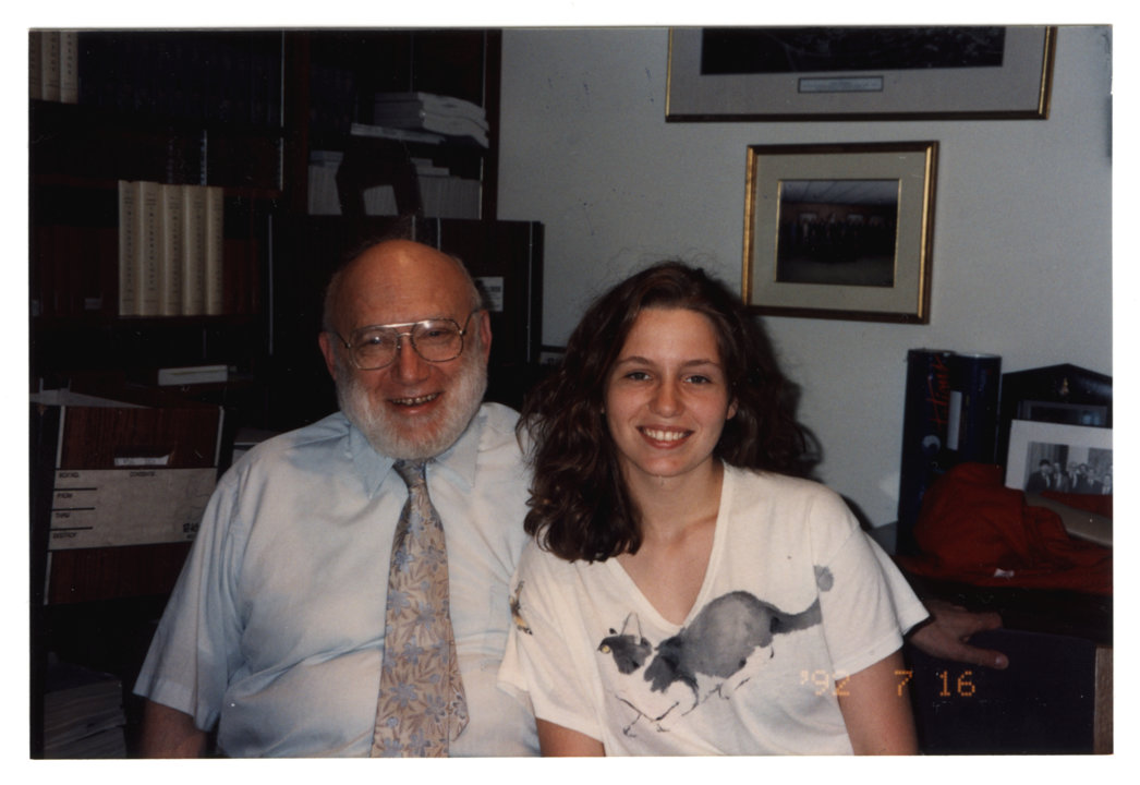 Joshua Lederberg with his daughter, Annie