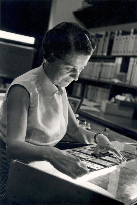 Rita Levi-Montalcini in her office at Washington University in the late 1950s