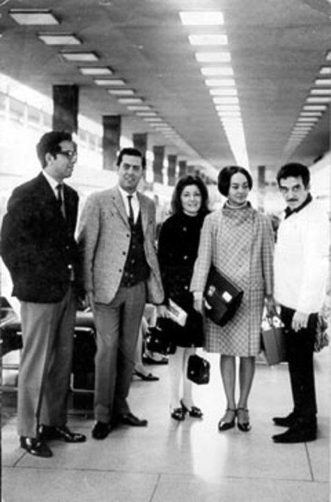 José Miguel Oviedo, Mario Vargas Llosa, Marta de Oviedo, Mercedes de García Márquez and Gabriel García Márquez