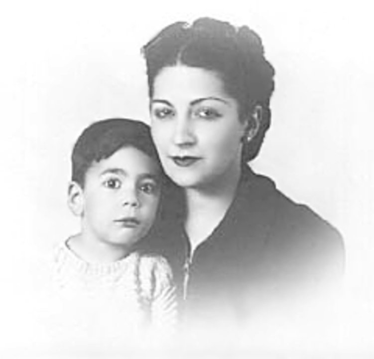 Mario Vargas Llosa and his mother
