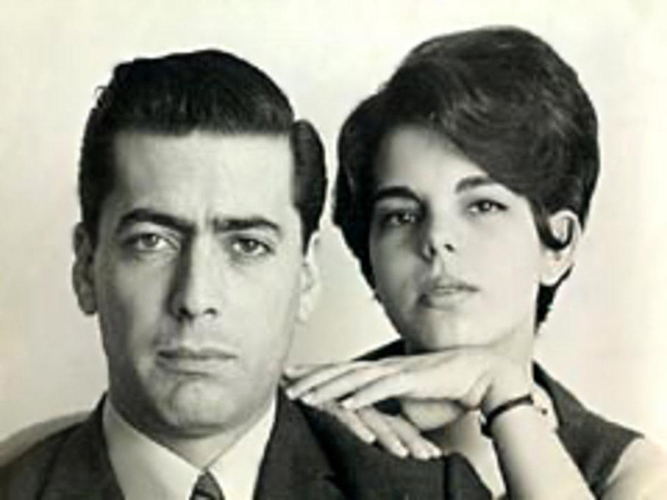 Mario Vargas Llosa and his wife Patricia