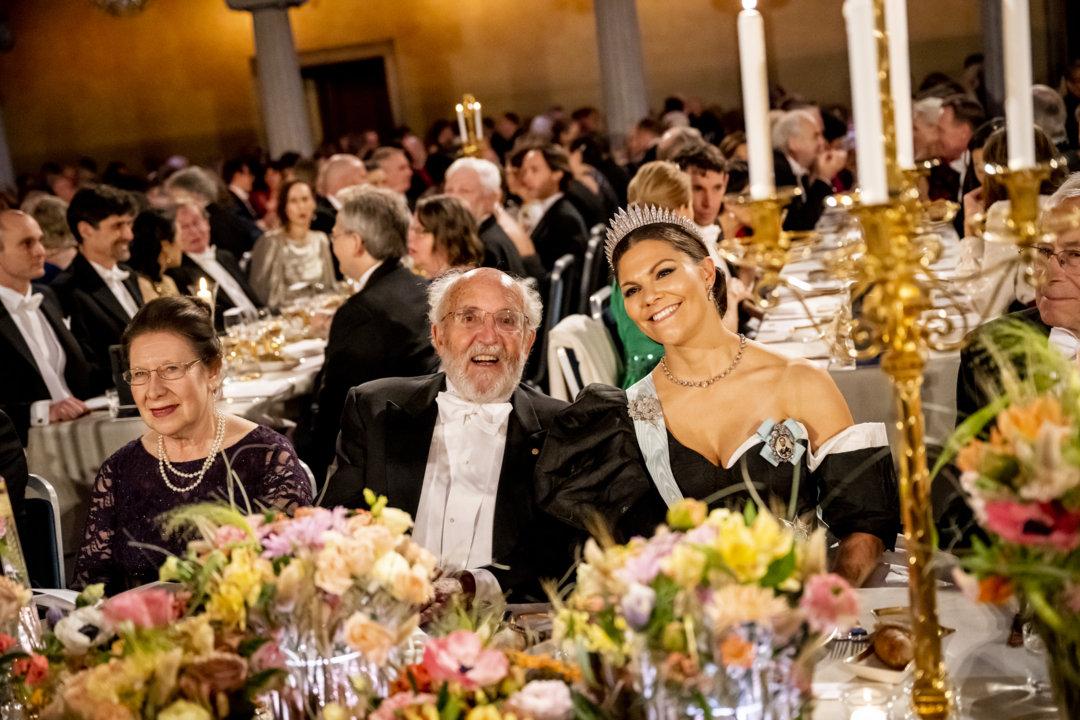 Michel Mayor and Sweden's Crown Princess Victoria at the Nobel Banquet