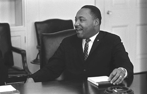 Martin Luther King, Jr. during a civil rights meeting at the White House, Washington DC, on 18 January 1964.