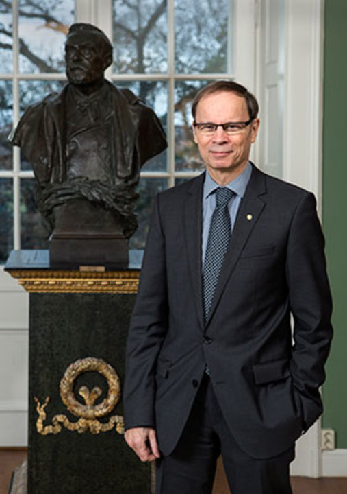 Jean Tirole during a visit to the Royal Swedish Academy of Sciences in Stockholm, Sweden.