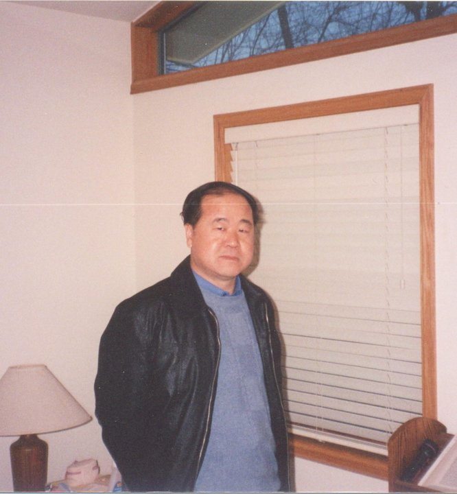 Mo Yan in his home