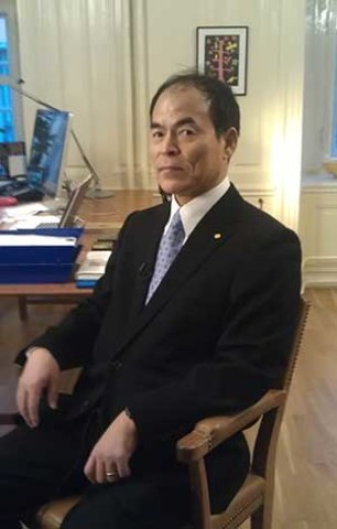 Shuji Nakamura before the interview with Nobelprize.org at the Nobel Museum on 6 December 2014