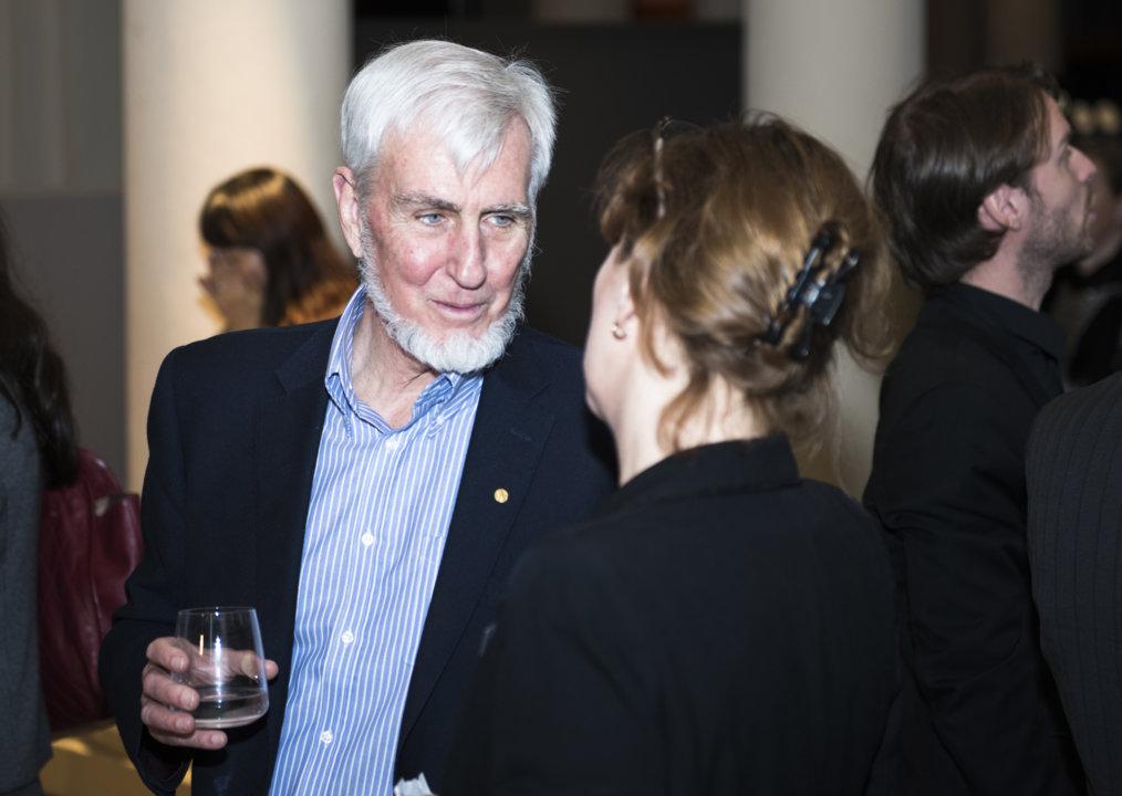 John O'Keefe at the Nobel Museum in Stockholm, Sweden, on 6 December 2014.