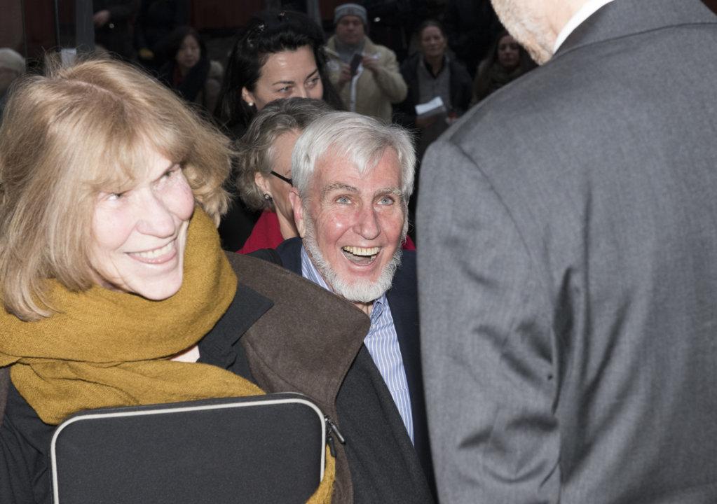 John O'Keefe arriving at the Nobel Museum in Stockholm, Sweden, for the 2014 Nobel Laureates' Get together on 6 December 2014.