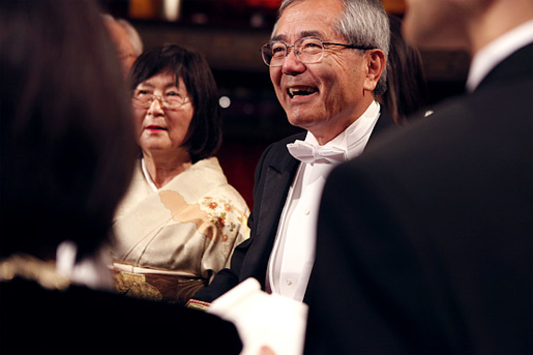 Ei-ichi Negishi with his wife