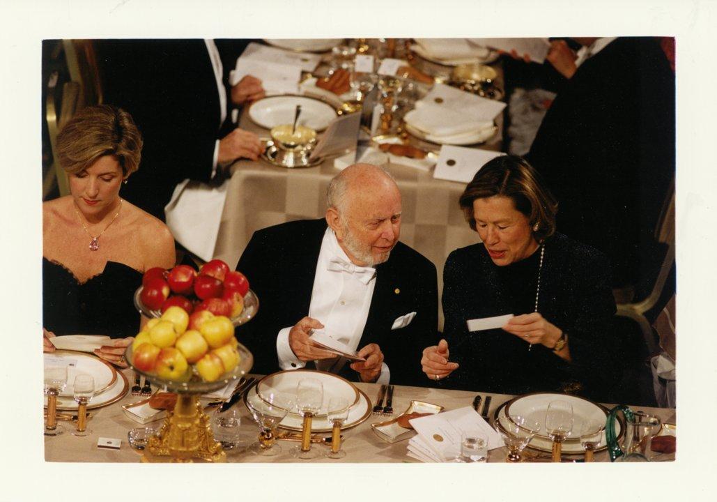 Douglass C. North at the Nobel Banquet
