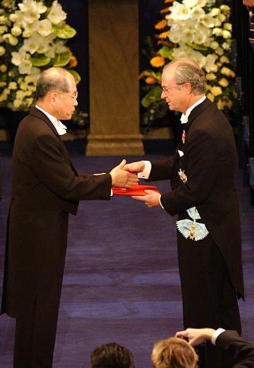 Ryoji Noyori and His Majesty the King
