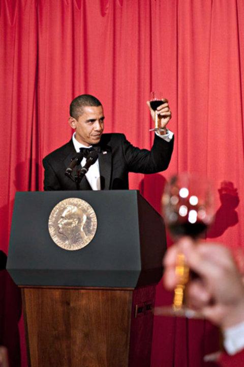 Barack H. Obama proposes a toast to Alfred Nobel