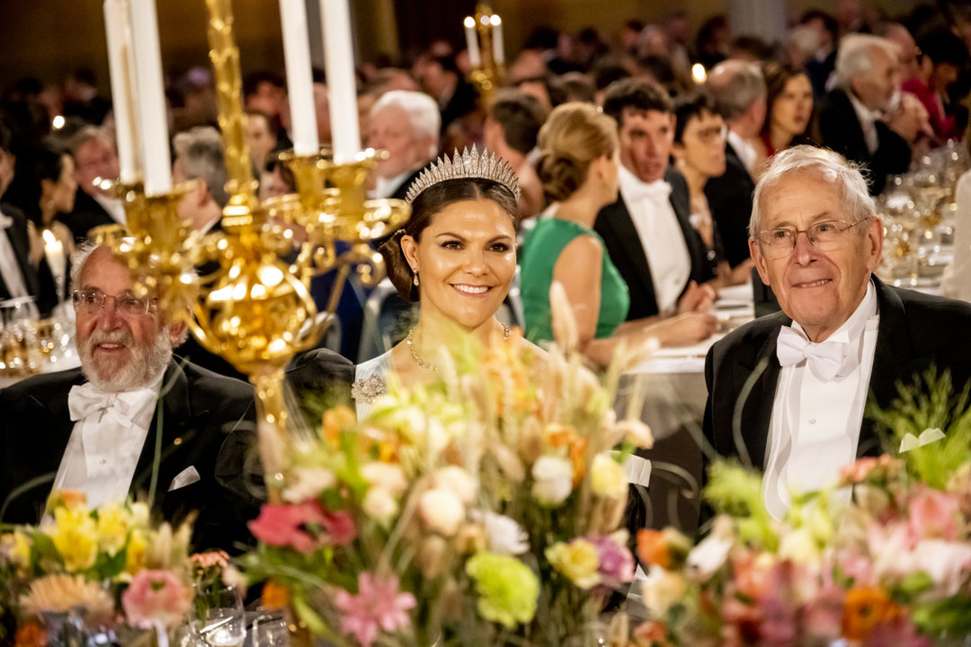 James Peebles and Crown Princess Victoria at the Nobel Banquet