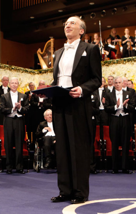 Saul Perlmutter after receiving his Nobel Prize at the Stockholm Concert Hall