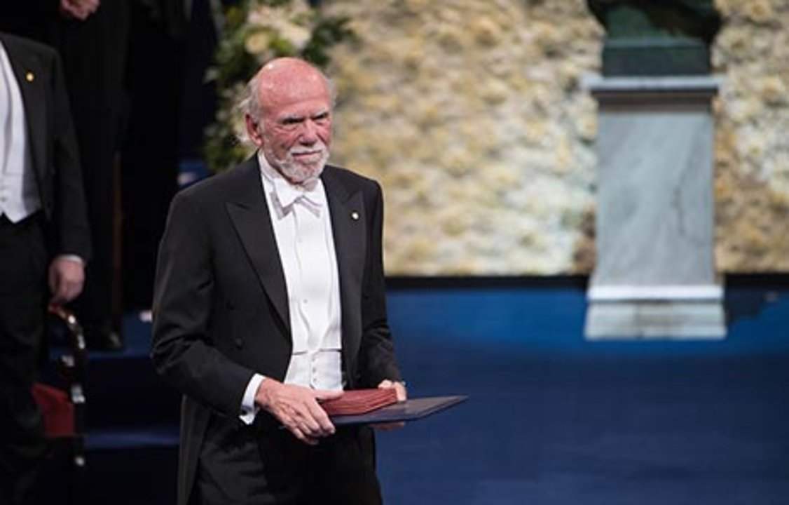 Barry C. Barish after receiving his Nobel Prize at the Stockholm Concert Hall