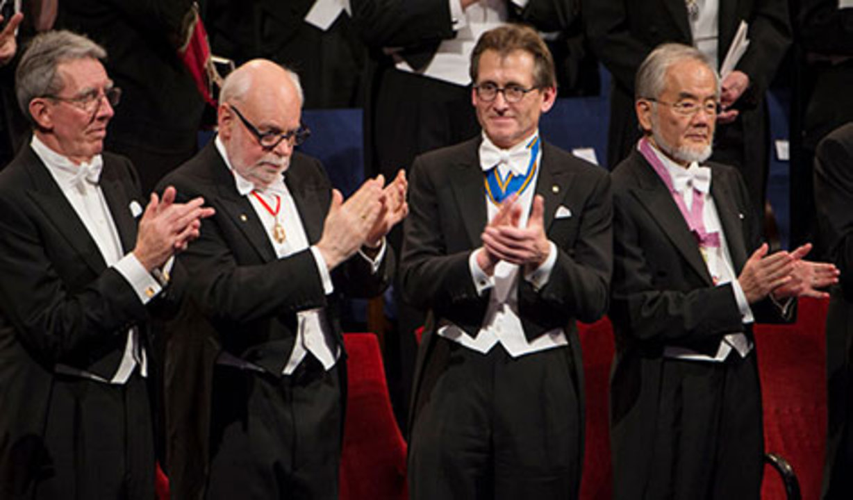Nobel Laureates at the Nobel Prize Award Ceremony