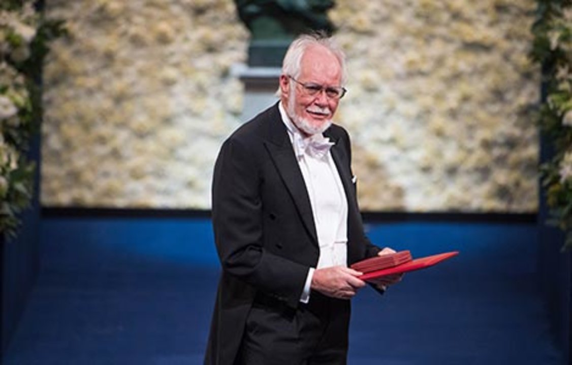 Jacques Dubochet after receiving his Nobel Prize at the Stockholm Concert Hall