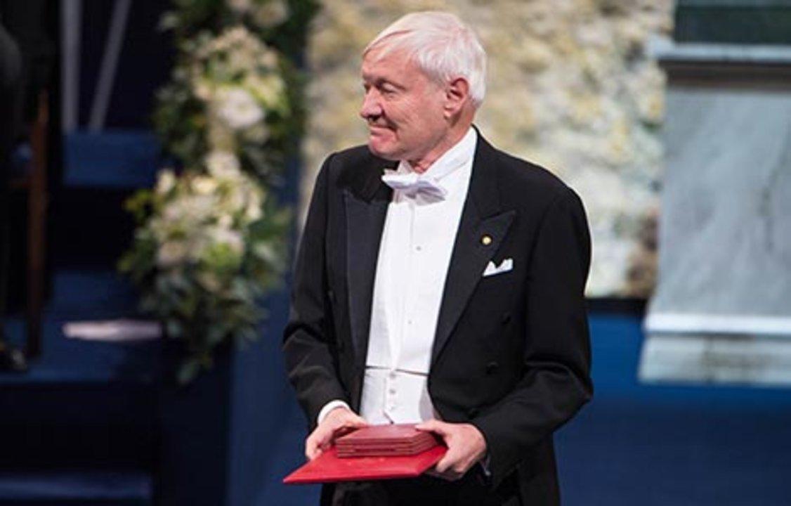 Joachim Frank after receiving his Nobel Prize at the Stockholm Concert Hall