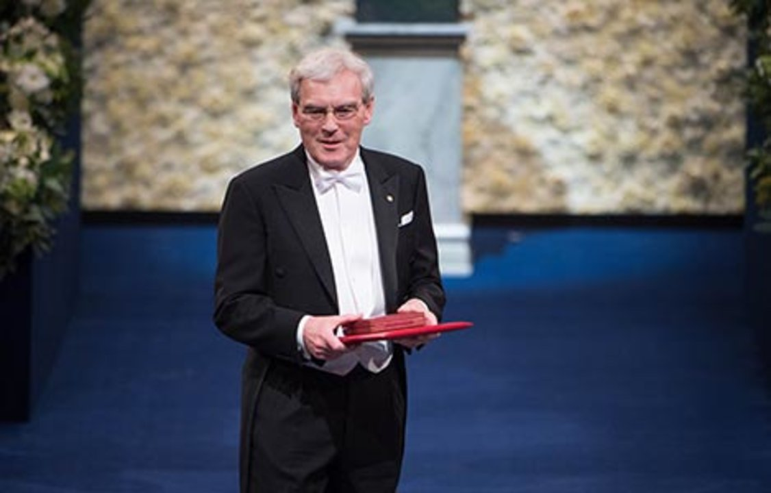 Richard Henderson after receiving his Nobel Prize at the Stockholm Concert Hall