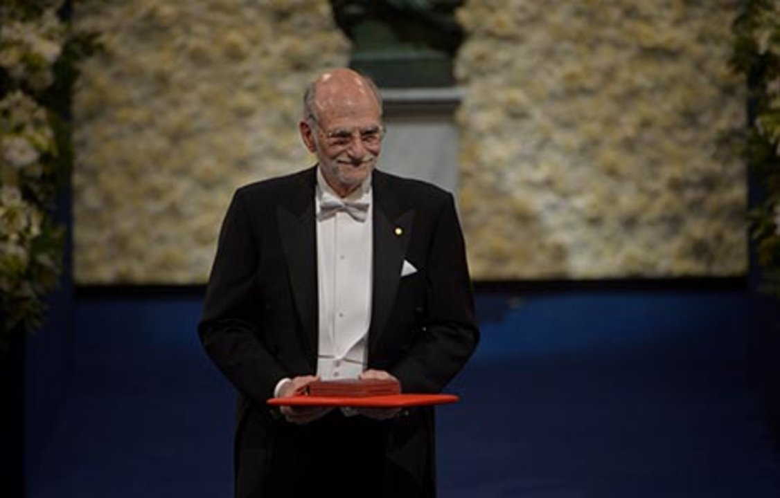 Michael Rosbash after receiving his Nobel Prize at the Stockholm Concert Hall