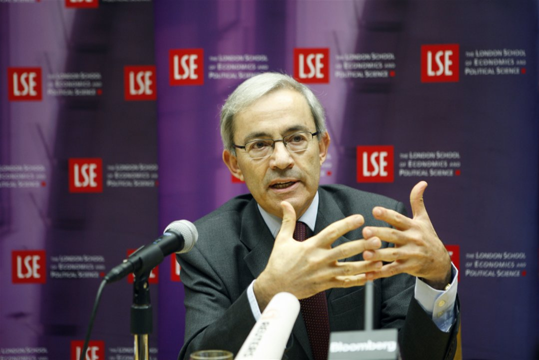 Christopher A. Pissarides at the London School of Economics and Political Science press conference
