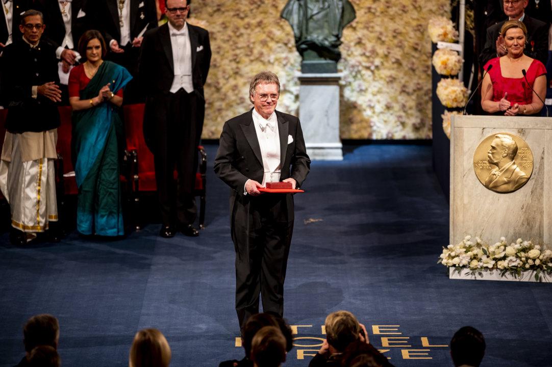 Sir Peter J. Ratcliffe after receiving his Nobel Prize