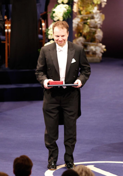 Adam G. Riess after receiving his Nobel Prize at the Stockholm Concert Hall
