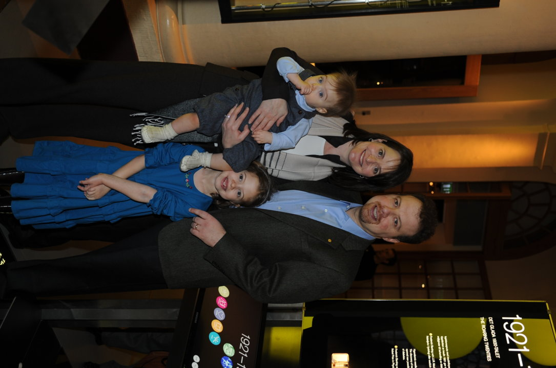 Adam G. Riess together with his wife Nancy Joy Riess and their two children Noah and Gabrielle at the Nobel Museum