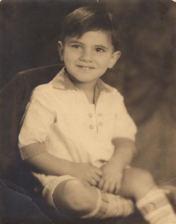 Martin Rodbell, 3 years old