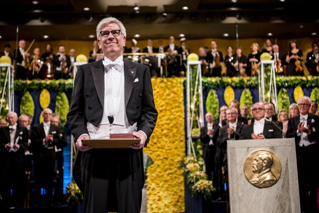 Paul M. Romer at award ceremony