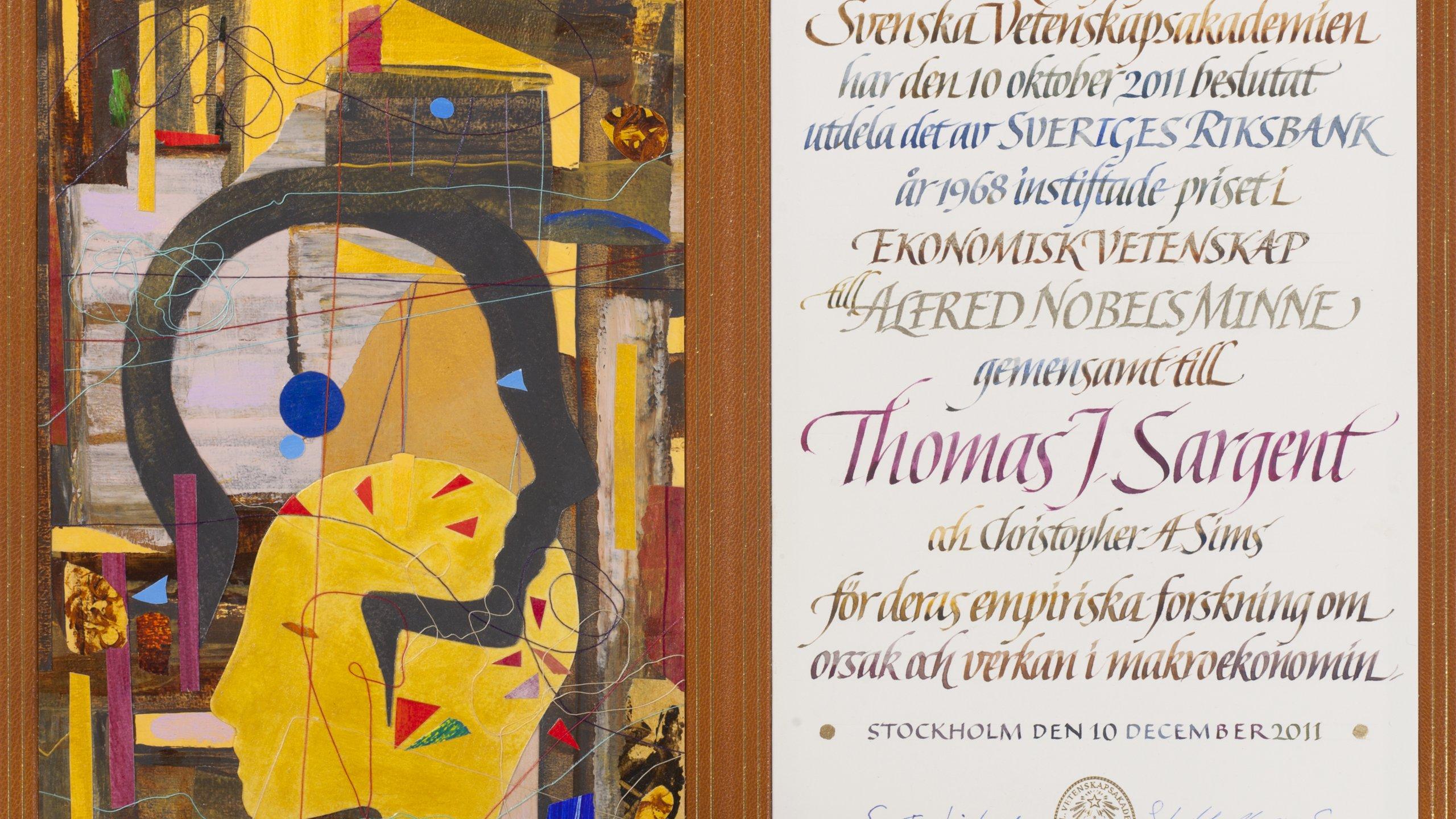 Thomas J. Sargent - Nobel Diploma