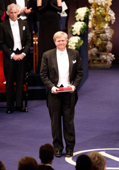 Brian P. Schmidt after receiving his Nobel Prize