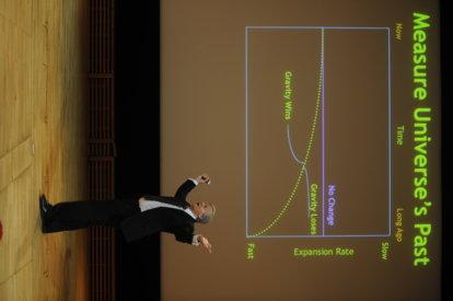 Brian P. Schmidt delivering his Nobel Lecture