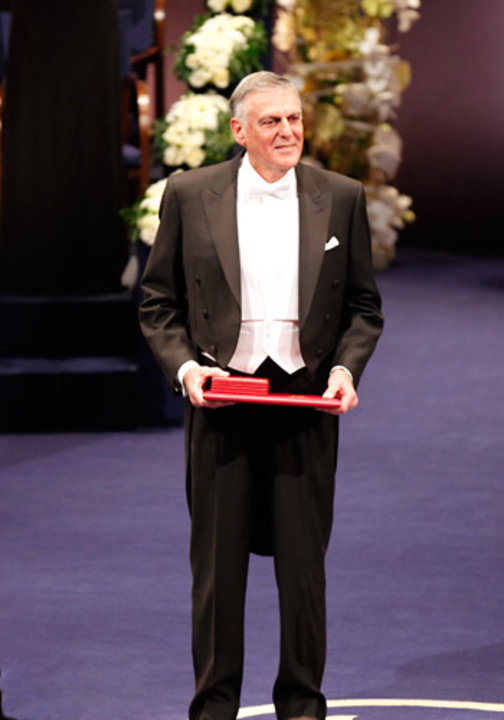 Dan Shechtman after receiving his Nobel Prize at the Stockholm Concert Hall