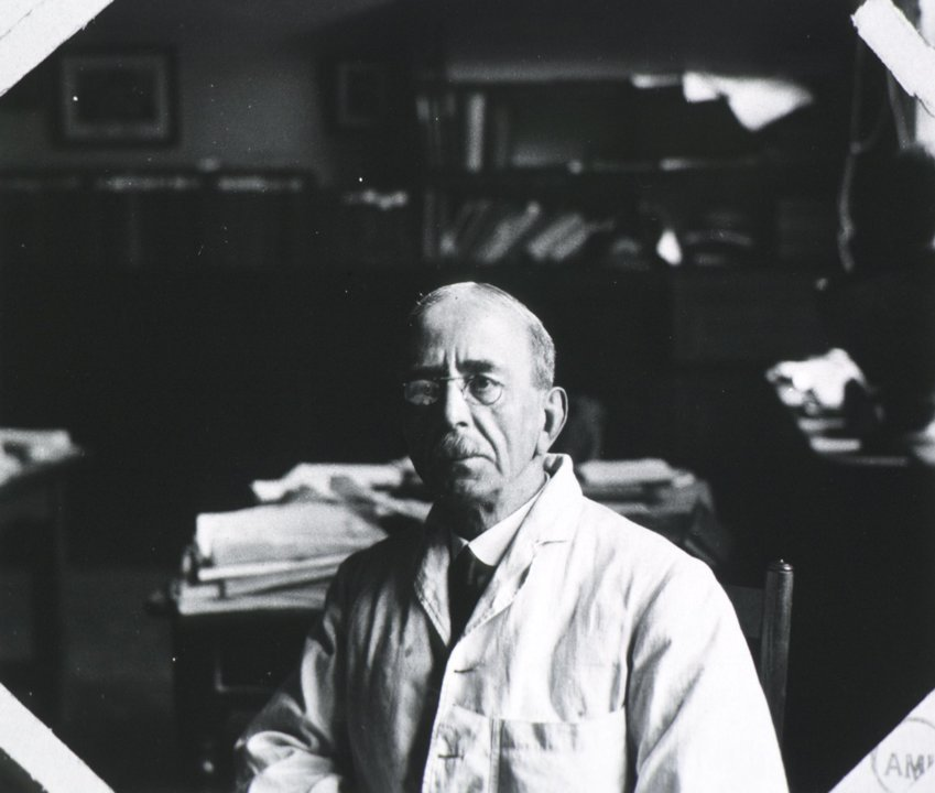 Charles S. Sherrington in his office