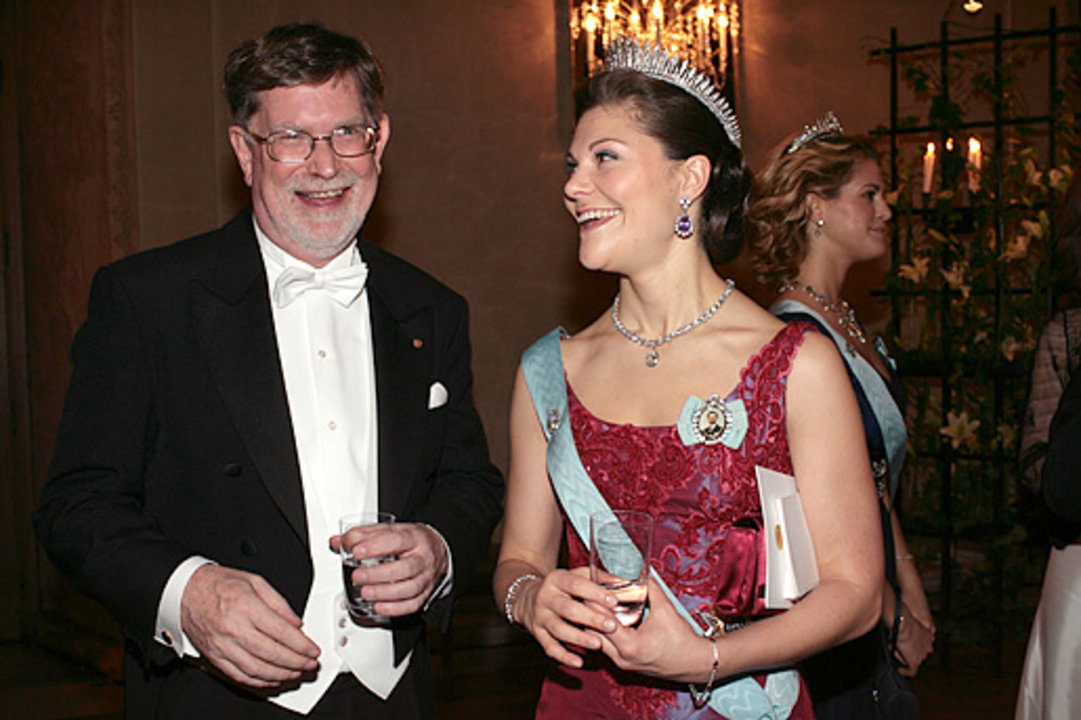 George F. Smoot and Crown Princess Victoria of Sweden.