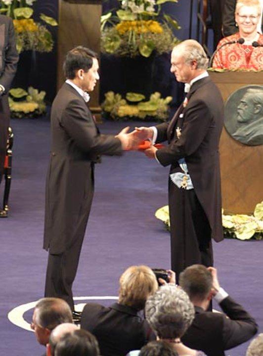 Koichi Tanaka and His Majesty the King
