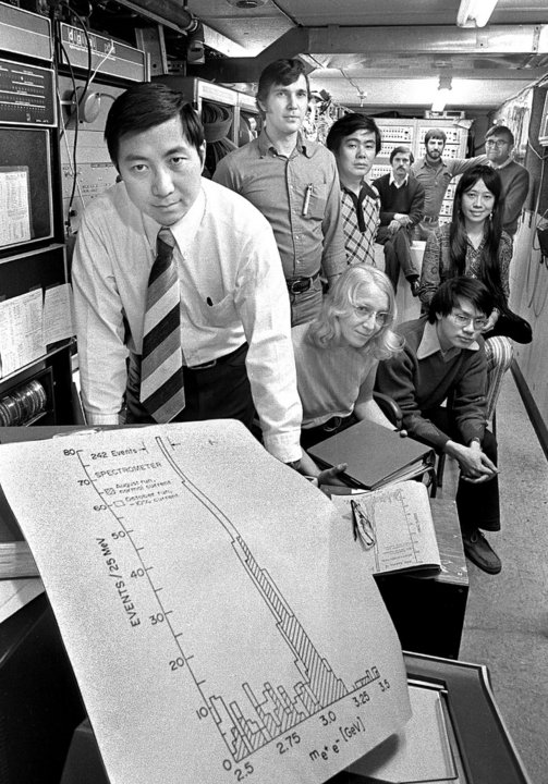 Samuel C.C. Ting and his research team
