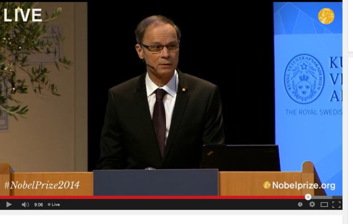 Jean Tirole delivering his Prize Lecture.