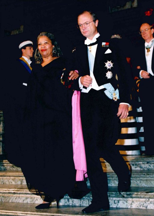 Toni Morrison and the King of Sweden at the 1993 Nobel Banquet