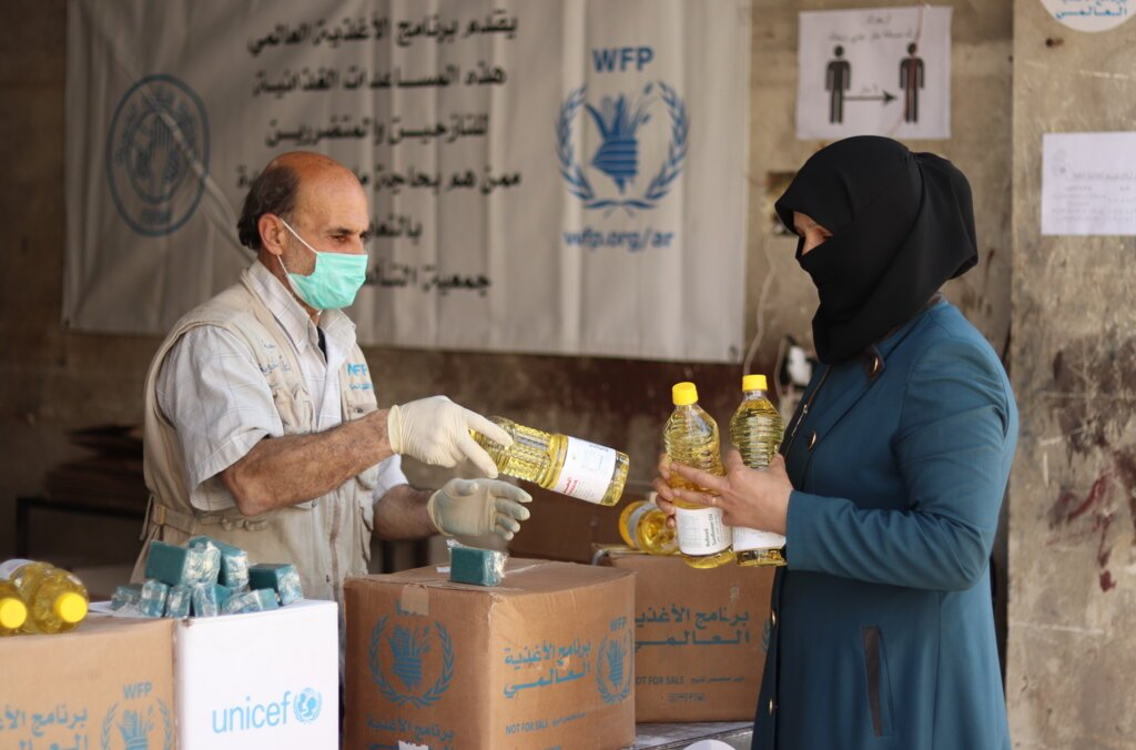 WFP food distribution in Syria