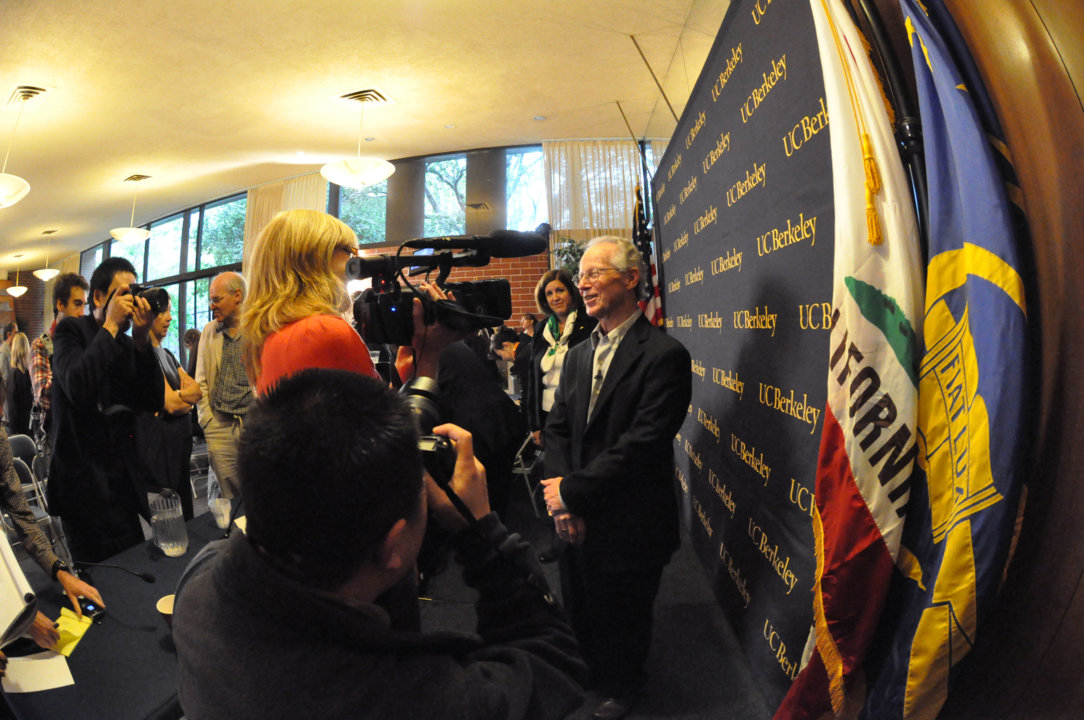Oliver Williamson at the UC Berkeley press conference